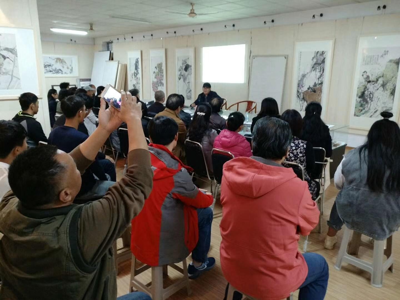 韩玮教授国画讲座在我院美术馆举行