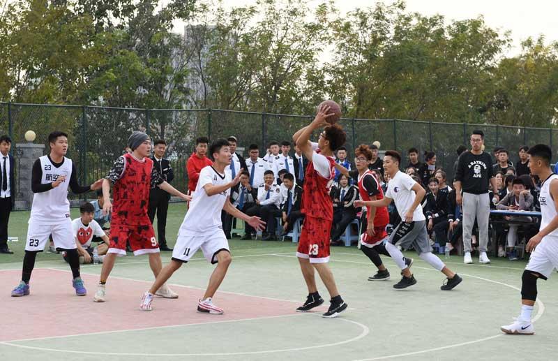 我院举行篮球友谊赛